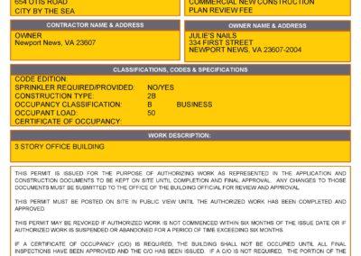 Sample Municipal Building Permit