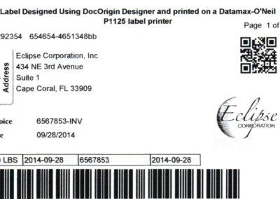 Sample Shipping Label Datamax ONeil