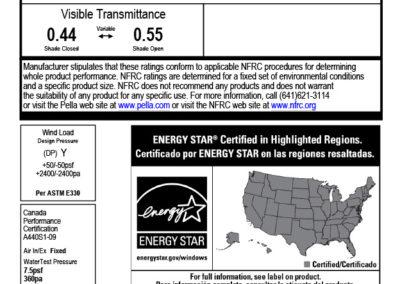 Sample Manufacturing Label