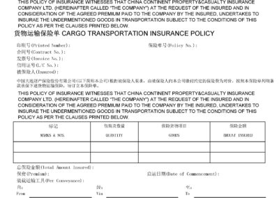 Sample Insurance Policy