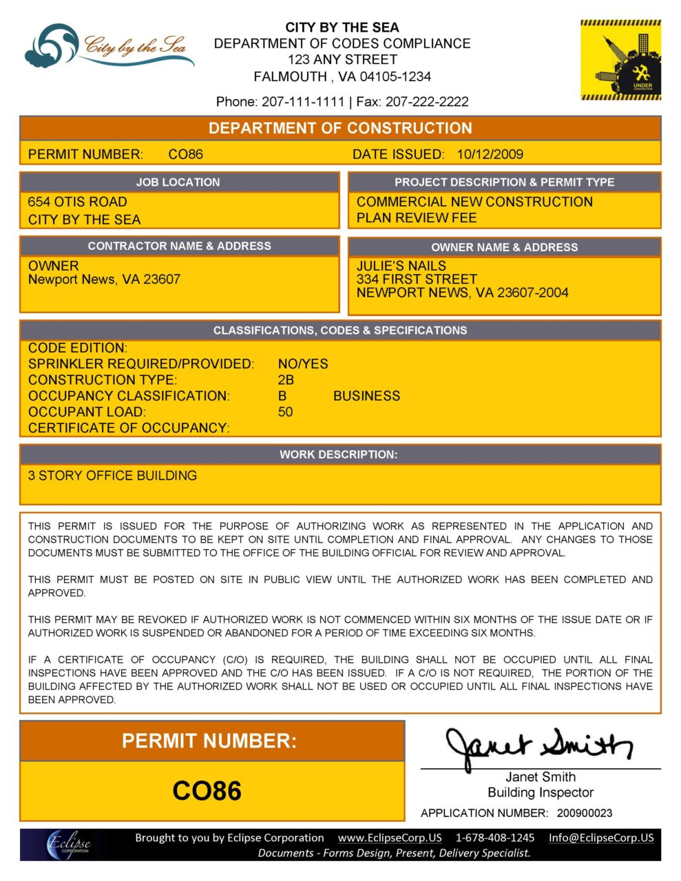 Form  Building Permit