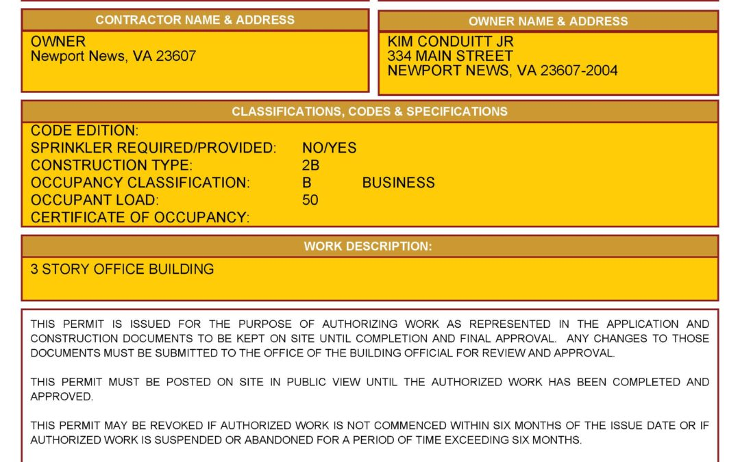 Sample Municipal Demolition Permit