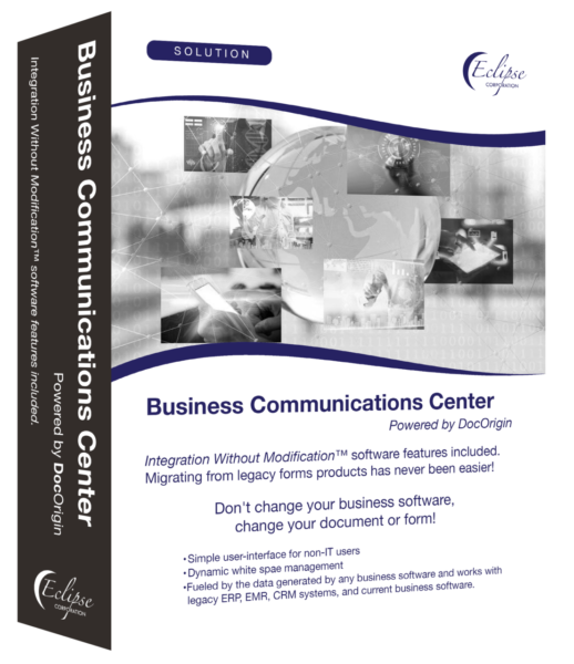 business communications center software box