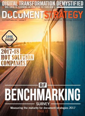 Document Strategy Magazine cover featuring Eclipse Corporation as Hot Company