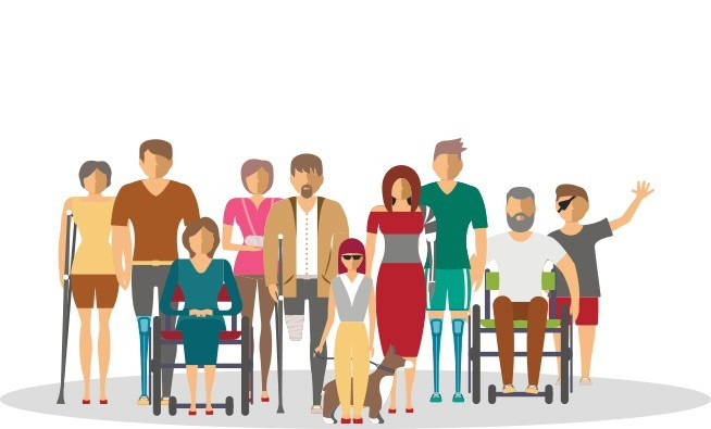 people with disabilities graphic illustration