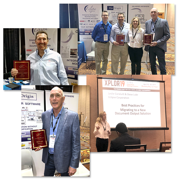 collage of photos from awards presentation at Xplor2019